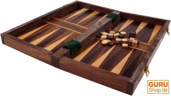 Brettspiel, Gesellschaftsspiel aus Holz - Dame und Back-Gammon