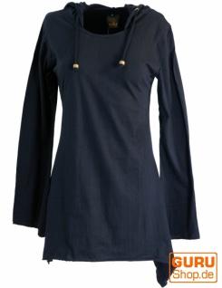 Elfen Shirt Goa-chic, Elfentunika - schwarz