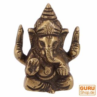Messingfigur Ganesha Statue 6 cm - Motiv 7