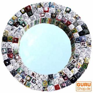 Spiegel aus Recyclingpapier - rund 35 cm
