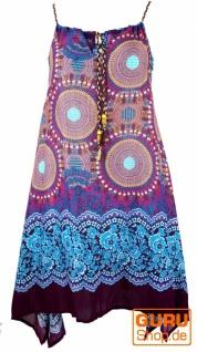 Boho Dashiki Midikleid, Trägerkleid, Strandkleid für starke Frauen - fuchsia/türkis
