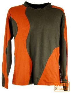 Sweatshirt Hippie Goa - braun/rostorange
