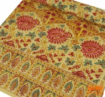 Blockdruck Tagesdecke, Bett & Sofaüberwurf, handgearbeiteter Wandbehang, Wandtuch - Design 16 - Vorschau 2