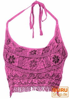 Goa Top, Psytrance Bandeau Top - pink