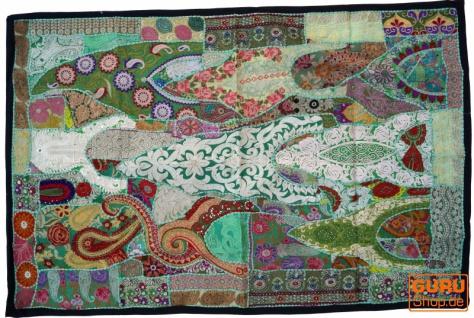 Indischer Wandteppich Patchwork Wandbehang, Einzelstück 150*100 cm - Muster 12