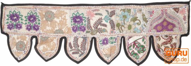 Orientalischer Wandbehang, indischer Toran, Wimpel Wandteppich, Wanddekoration, Tür Deko Einzelstück 110*35 cm - Design 20