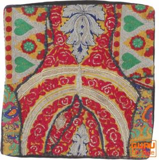 Patchwork Kissenhülle, Dekokissen Bezug aus Rajasthan, Einzelstück - Muster 3