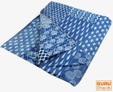 Quilt, Steppdecke, Tagesdecke Bettüberwurf, Besticktes Tuch, Indischer Bettüberwurf, Tagesdecke - Muster 7