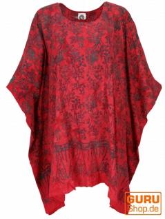 Poncho, Tunika, Strandkleid , Batik Kaftanf, Damen Übergröße - rot