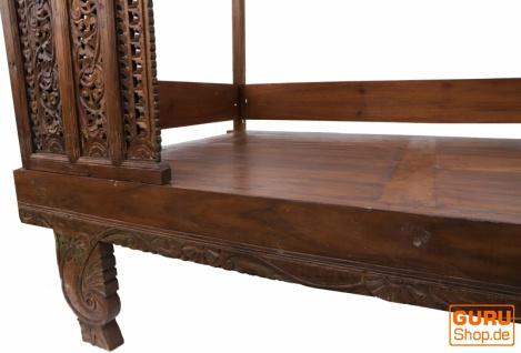 Historisches Himmelbett, Tagesbett aus Teakholz - Modell 4 - Vorschau 2