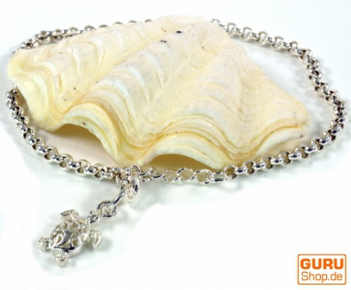 Silber Armkettchen, Boho Armschmuck - Schildkröte