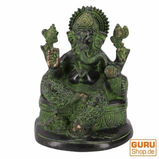 Messingfigur Ganesha Statue 18 cm - Motiv 27