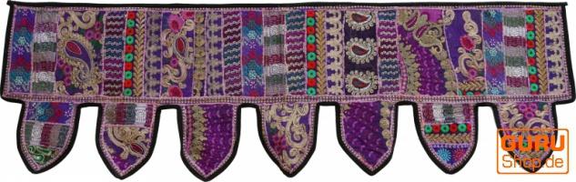 Orientalischer Wandbehang, indischer Toran, Wimpel Wandteppich, Wanddekoration, Tür Deko Einzelstück 150*45 cm - Design 20