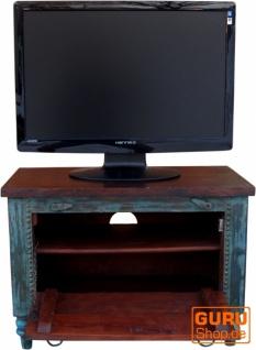 Kleine Plasma TV Box im Kolonialstil Fernsehtisch - blau - Vorschau 4