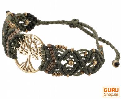 Goa Armband, Makramee, Festival Armband - Tree of life/olive Modell 26
