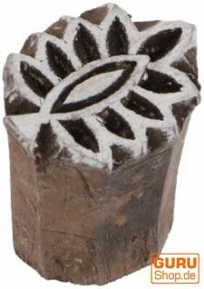 Indischer Textilstempel, Holz Stoffdruckstempel, Blaudruck Stempel, Druck Modell - 2, 5*2 cm Blume 2