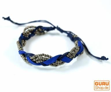 Perlenarmband, Ethno Armband - indigo