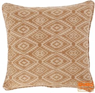 Kissenbezug Blockdruck, Kissenhülle mit Ikatmuster, Dekokissen Bezug mit traditionellem Design 50*50 cm - Muster 4