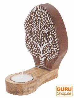 Indischer Teelichthalter Holzstempel - Model 1