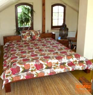 Quilt Baumwoll Steppdecke, Boho Tagesdecke Bettüberwurf mit Blümchen Muster - Design 2