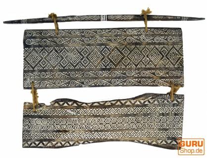 Osttimor Maske, Ethno Wanddekoration, geschnitztes Panel - Modell 8