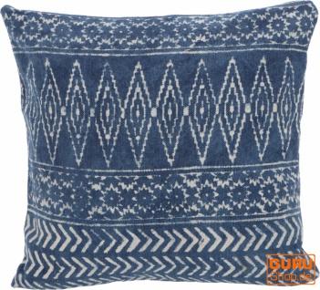 Gewebter Kelim Kissenbezug Blockdruck, Dekokissen Bezug, Boho Kissen traditionelle Herstellung - Muster 15