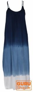 Schmales Batikkleid, Strandkleid, Sommerkleid - blau/weiß