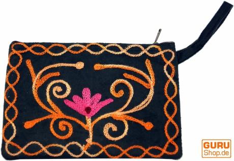 Besticktes Portemonnaie aus Kaschmir - 5