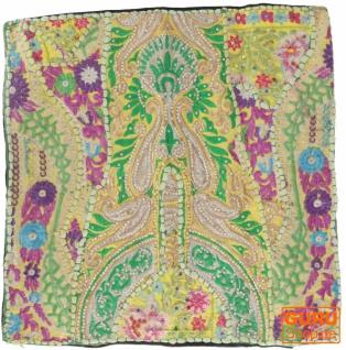 Patchwork Kissenhülle, Dekokissen Bezug aus Rajasthan, Einzelstück - Muster 29