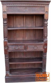 Aufwendig verziertes Bücherregal im Vintage Look - Modell 1