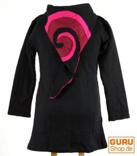 Goa Kinderjacke mit Zipfelkapuze, Elfenjacke Spirale - schwarz - Vorschau 2