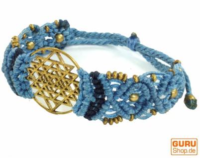 Goa Armband, Makramee, Festival Armband, Einzelstück - Shri Yantra Modell 6