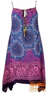 Boho Dashiki Midikleid, Trägerkleid, Strandkleid für starke Frauen - türkis/fuchsia
