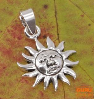 Silber Ethno Anhänger Sonne, Sonnenamulett - Model 3