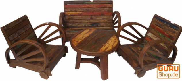 Tolles Möbelset, Sitzgruppe aus Recycleholz Nr.5