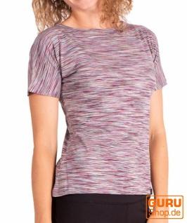 T-Shirt aus Bio-Baumwolle / Chapati Design - plum
