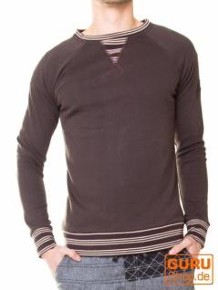 Pullover aus Bio-Baumwolle / Chapati Design - choco