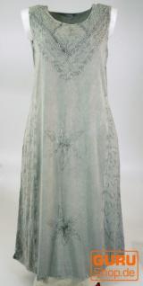 Besticktes Boho Sommerkleid, indisches Hippie Kleid, grau - Design 21