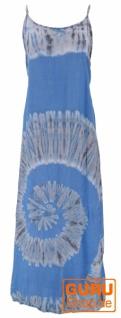 Batik Maxikleid, Strandkleid, Sommerkleid, langes Kleid - blau