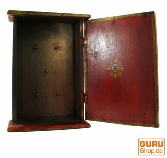 Schlüsselkasten, bemalte Schlüssel Ablage Box mit Tür - Muster 8 - Vorschau 2