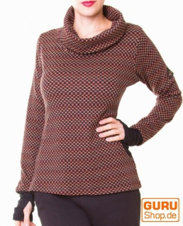 Pullover aus Bio-Baumwolle / Chapati Design - rust polka