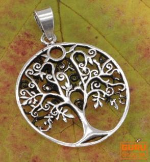 Silberanhänger Baum des Lebens, Tree of Life Talisman - Model 6
