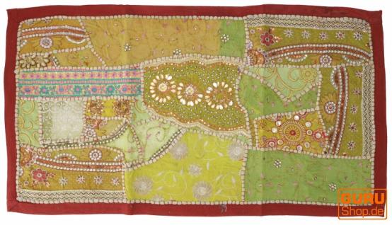 Indischer Wandteppich Patchwork Wandbehang, Tischläufer, Einzelstück 85*45 cm - Muster 17