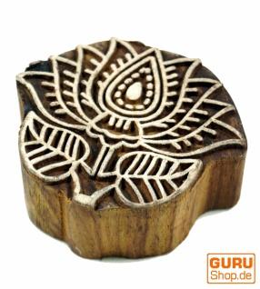 Indischer Textilstempel, Stoffdruckstempel, Blaudruck Stempel, Holz Model - Lotus 2