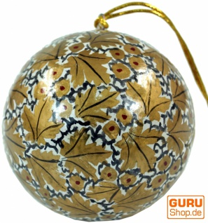 Upcyceling Weihnachtskugel aus Pappmachee, Handbemalter Christbaumschmuck, Kaschmirkugeln - Muster 16
