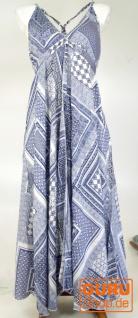 Maxikleid, Strandkleid, Sommerkleid, langes Kleid - blau