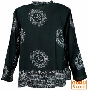 Hare Krishna Mantra Shirt, Goa Hippie Hemd - schwarz - Vorschau 2