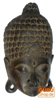Buddha Maske, Wandschmuck, Ethno Wanddekoration aus Balsaholz
