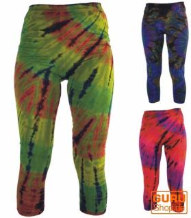 3/4 Batik Damen Leggings, Stretch Sporthose für Frauen, Yogahose - Vorschau 3