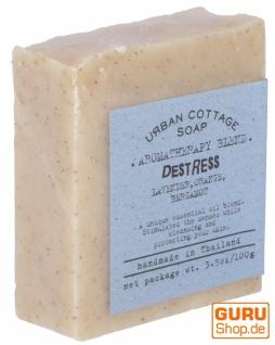 Handgemachte Aromatherapie Duftseife DESTRESS, 100g, Fair Trade - Lavendel-Orange-Bergamotte